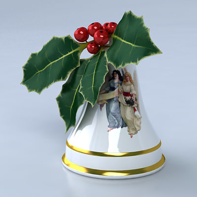 christmas bell 3d max