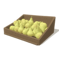 pears basket obj