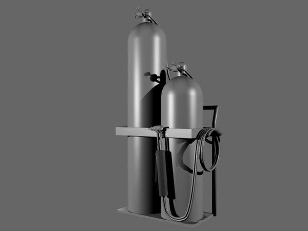 3d gas welding torch model