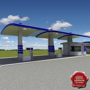3d gas station v25 service model