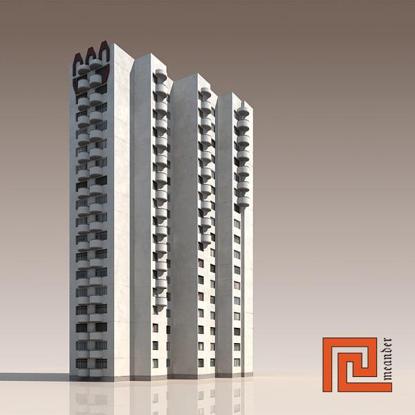 high-rise building 3d 3ds
