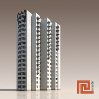 high-rise building 3d 3ds