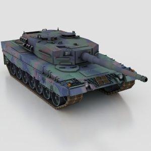 leopard 2a4 main battle tank 3d model