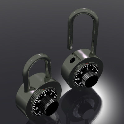 locks treasures sports 3d model
