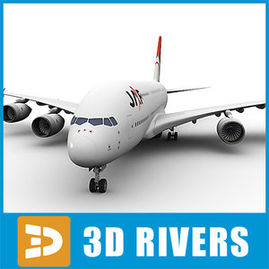 3dsmax airbus a380 jal