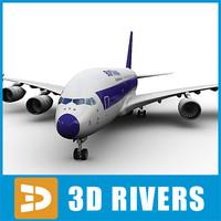 airbus a380 lufthansa aircraft 3d max