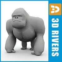 polygonal gorilla ma