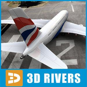 3ds airbus-a380 british airways airbus a380