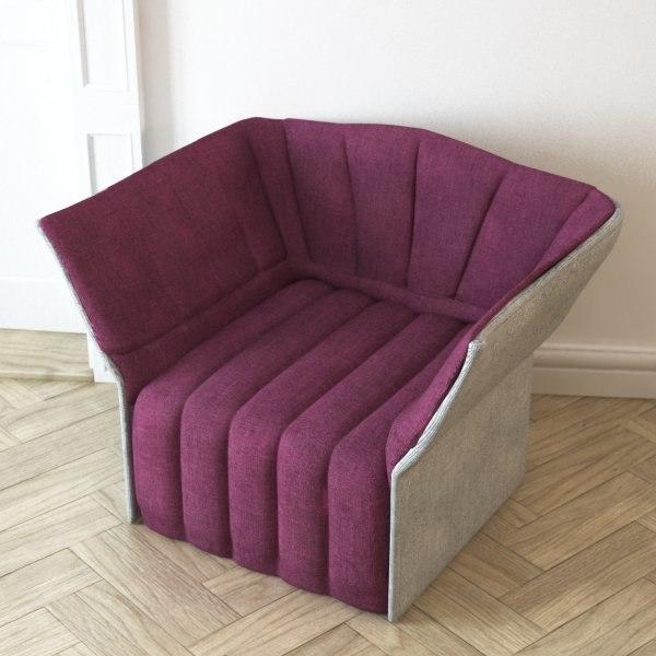 inga moel armchair ligne roset obj. Black Bedroom Furniture Sets. Home Design Ideas