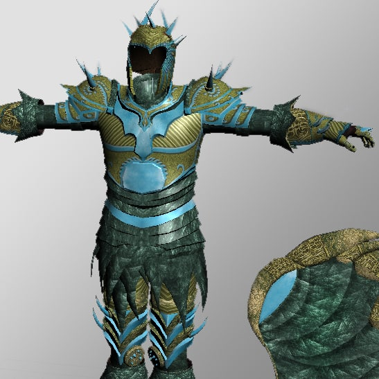 3ds max armor shield