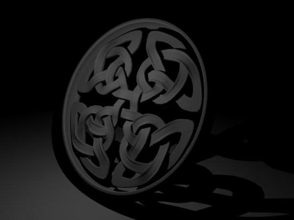 3d model shield knot