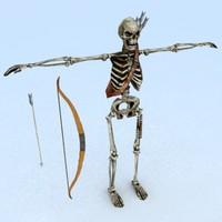3ds max skeleton archer
