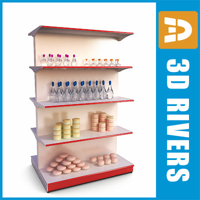 double-sided shelving soap 3d 3ds