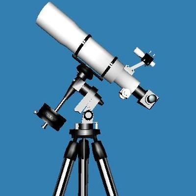 3d model telescope