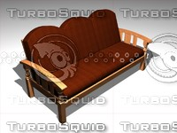 triple seat sofa 3ds