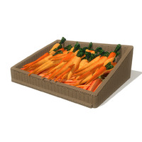 3d model carrots basket