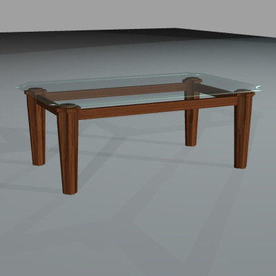3d glass table leg model