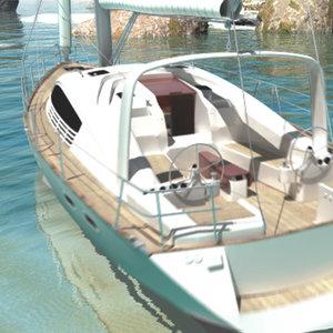 sailing yacht 3d max