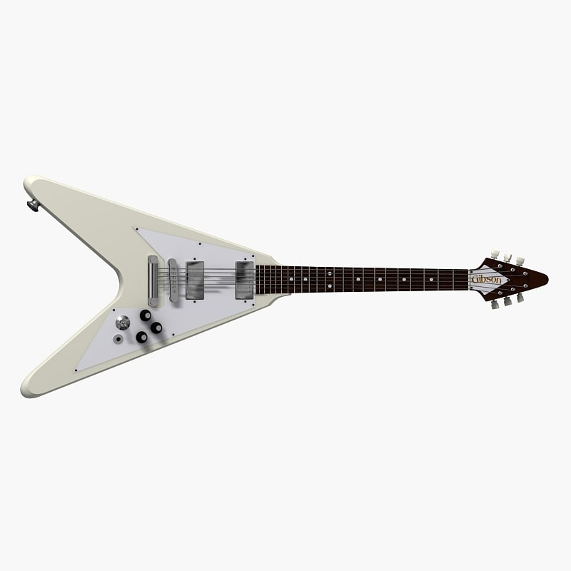 flying v gibson electric guitar 3d model