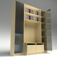 tv shelving 3d model