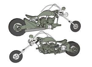 chopper launcher minigun 3d max