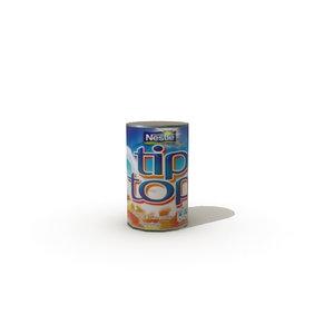 tinned cream 3d model