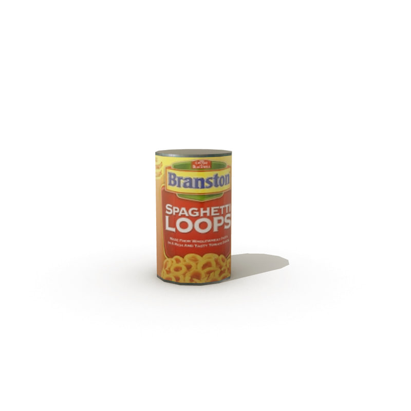 tinned spaghetti loops 3d model