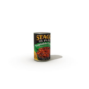 tinned vegetable chilli 3d obj