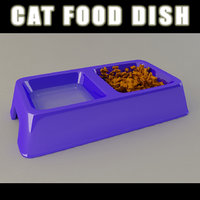 3d cat food dish