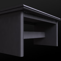3d wood computer desk