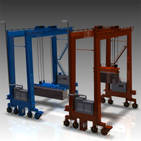 gantry container cranes 3d model