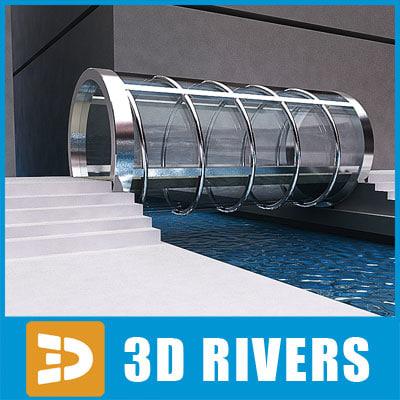 3d model of glass bridge
