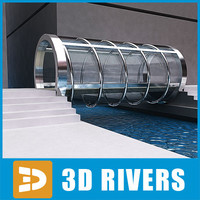 3d model of glass bridge