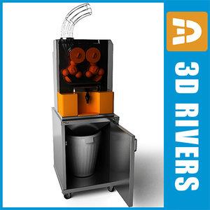 3d model professional juice squeezer