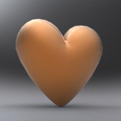 clean heart shape 3d max