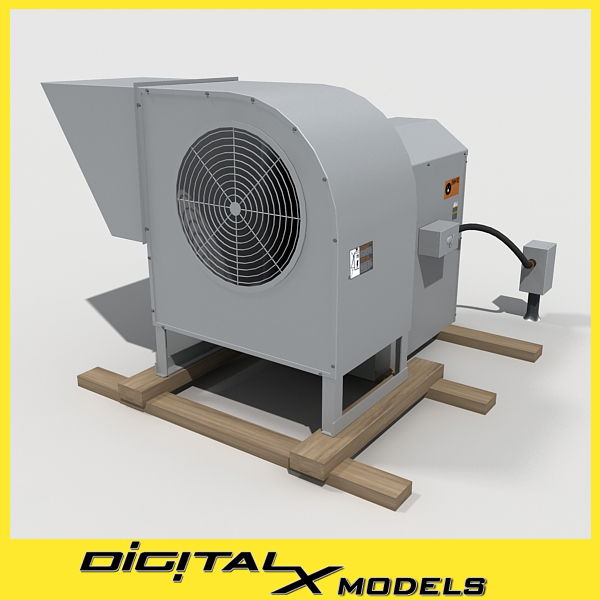 3d rooftop hvac blower model