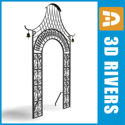 3dsmax decorative metallic gate 02