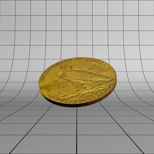 3d max gold dollar