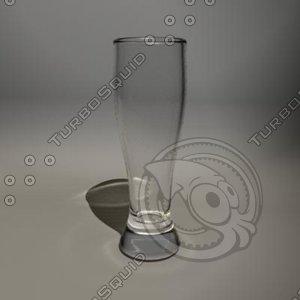 16 oz pilsner glass 3d ma