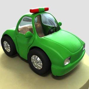 3dsmax cartoon police car