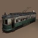 Destroyed Streetcar