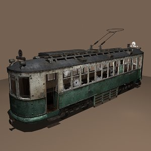 3d destroyed streetcar