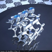 3ds max original ring sapphires