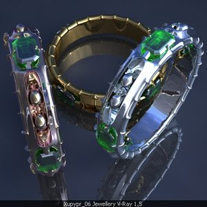 3ds max ring emeralds
