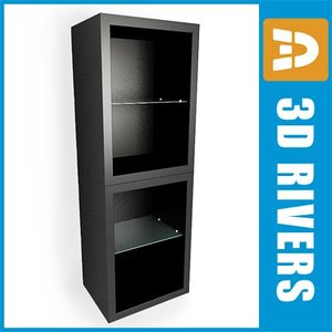 3d model salon cupboard 02