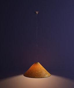 3d model designer pendant lamp sarasar