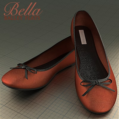 bella ballet flat shoe 3ds