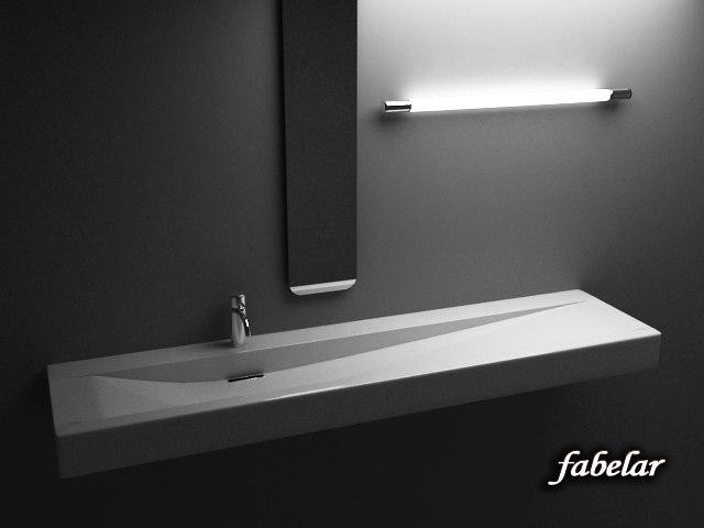 3d sink biased faucet model