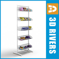 3d model supermarket rack goods