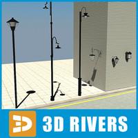 3d model street light